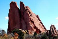Rock outcrop. Large rocks pointing skyward stock photo