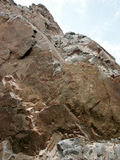 Rock Outcrop. Metamorphic rock at Buffalo Bill Dam Royalty Free Stock Photos