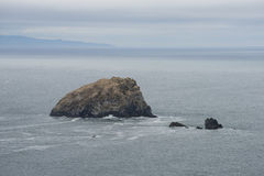 Rock outcrop, California Coast Royalty Free Stock Photos