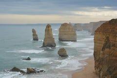 Rock outcrop in ocean Stock Image
