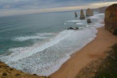 Rock outcrop in ocean Stock Photography
