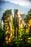 Rock Outcrop in Zhangziajie (Hallelujah, Avatar) mountains, Chin Royalty Free Stock Photography