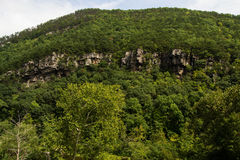 Rock Outcropping at Rainbow Gorge Royalty Free Stock Image