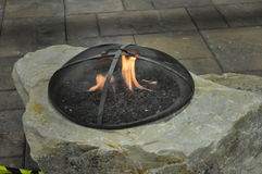 Rock outdoor firepit Royalty Free Stock Images