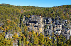 Rock Overlook at Tallulah Gorge Royalty Free Stock Images