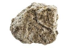 Rock på en vit bakgrund Royaltyfri Fotografi
