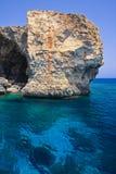 Rock på havet Fotografering för Bildbyråer