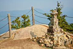 Rock pagoda on Mt  Misen Stock Image