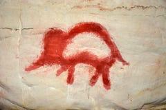 Rock painting in caves Sablinskaya Royalty Free Stock Image