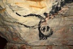 Rock painting in caves Sablinskaya Stock Photography