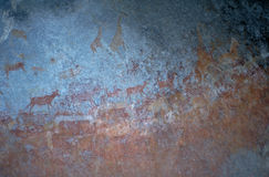 Rock Painting at Matopos Hills Stock Images