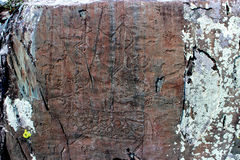 Rock painting. In the photograph to make a few thousand years ago stock images