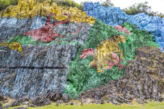 Rock-painting in Vinales, Cuba Stock Photography