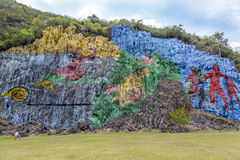 Rock-painting in Vinales, Cuba Stock Image