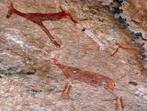 Rock paintings Stock Photos