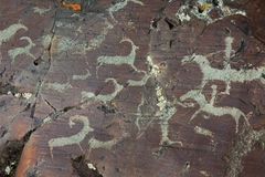 Rock paintings Royalty Free Stock Photography