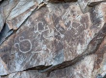 Rock paintings. From the Bronze Age Stock Image