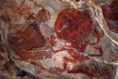 Rock paintings and cave painting in the Caatinga of Brazil Royalty Free Stock Images