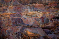 Rock paintings and cave painting in the Caatinga of Brazil Royalty Free Stock Photo