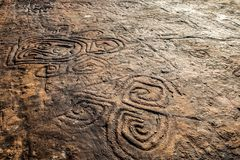 Rock Paintings At The Dominican Republic. Rock Paintings At The La Altagracia Dominican Republic Royalty Free Stock Photo