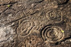 Rock Paintings At The Dominican Republic. Rock Paintings At The La Altagracia Dominican Republic Stock Photography