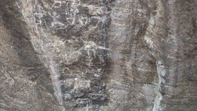 Rock paintings. In Ob Luang National Park to the south and west of Chiang Mai. 4K video stock footage
