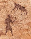 Rock Paintings Of Tassili N Ajjer, Algeria Stock Photography