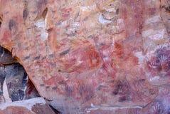 Rock paintings in Patagonia Royalty Free Stock Photos