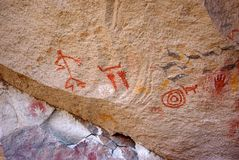 Rock paintings in Patagonia Stock Images
