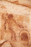 Rock paintings of Tassili N'Ajjer, Algeria Stock Photography