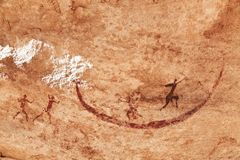 Rock paintings of Tassili N'Ajjer, Algeria Royalty Free Stock Photo
