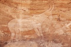 Rock paintings of Tassili N'Ajjer, Algeria Stock Photos