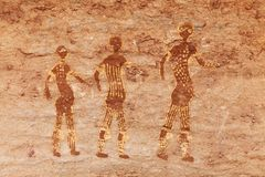 Rock paintings of Tassili N'Ajjer, Algeria stock image