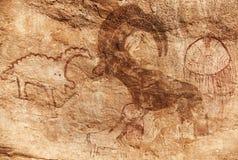 Rock paintings of Tassili N'Ajjer, Algeria Stock Image