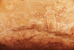 Rock paintings of Tassili N'Ajjer, Algeria Royalty Free Stock Image