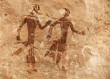 Rock paintings of Tassili N'Ajjer, Algeria. Famous prehistoric rock paintings of Tassili N'Ajjer, Algeria Royalty Free Stock Photography