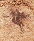 Rock paintings of Tassili N`Ajjer, Algeria stock photos