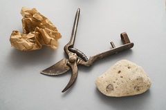Rock, Paper, Scissors Royalty Free Stock Photography