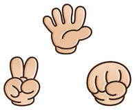 Rock-paper-scissors game. This be three small hand of dissimilarity skin, they is come from world dissimilarity place of child.They are do game,everyone get Stock Photo