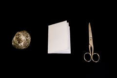 Rock Paper Scissors Game Black Isolated Background Decision Objects Stock Photography
