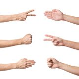 Rock Paper Scissors game set Stock Photo