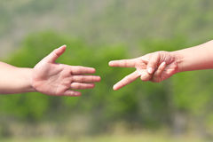 Rock Paper Scissors Royalty Free Stock Photography