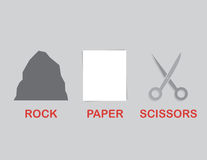 Rock Paper Scissors Text Royalty Free Stock Photography