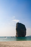 Rock at paradise island Royalty Free Stock Photography