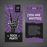 Rock party invitation Stock Images