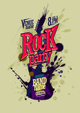 Rock party poster vector design vector illustration