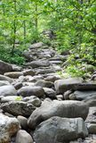 Rock path smoky mountains. Large stones and rocks path along Tennessee river smoky mountains Stock Images