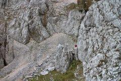 Rock pathway on Bärenlochsteig in Raxalpe Stock Images
