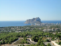 Rock PeA±onn de IFACH Calpe,西班牙 免版税库存照片