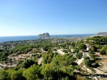 Rock PeA±onn de IFACH Calpe,西班牙 免版税库存图片